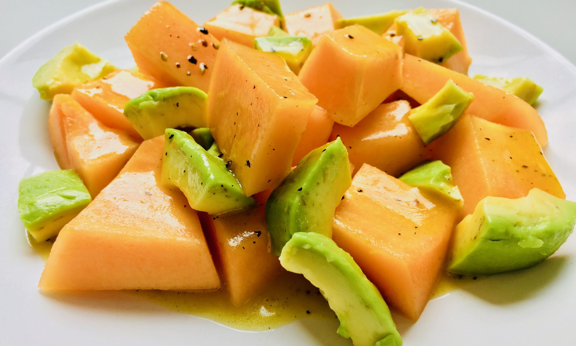 Kalifornischer Avocado-Melonen-Salat